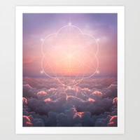 The Sun Is But A Morning Star (Geometric Sunrise) Art Print by Soaring Anchor Designs