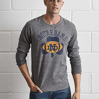 Tailgate Notre Dame Thermal Shirt, Salt And Pepper