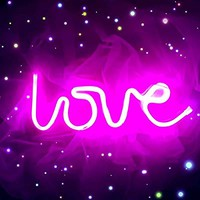 "Dorm Decor Neon Love Light 13.70"" Large LED Love Art Decorative Marquee Sign - Wall Decor / Table Decor for Wedding party Kids Room Living Room House Bar Pub Hotel Beach Recreational (purple pink)"