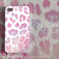 Apple iphone case for iphone iphone 5 iphone 4 iphone 4s iPhone 3Gs : cute pink leopard fur ( not real fur )