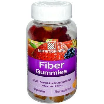Nutrition Now: Fiber Gummies, Blackberry, Peach & Strawberry, 60 Gummies