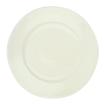 French Bistro Dinner Plate in Bone design by Canvas
