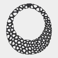 Kinematics Smooth Black Necklace | MoMA