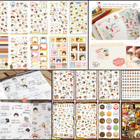 Korean/Japanese Kawaii Sticker Lot (10 sheets)
