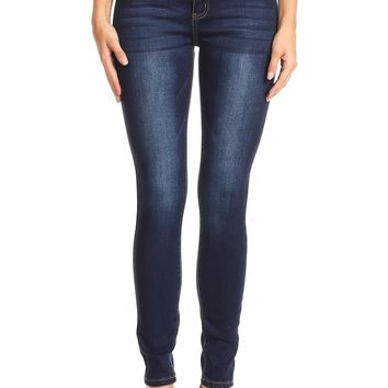 Stunner In The Dark Denim Skinny Jeans in Blue