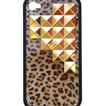 Leopard Gold Pyramid iPhone 4/4s Case