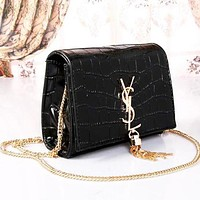 Perfect YSL Yves Saint Laurent Women Shopping Leather Chain Satchel Shoulder Bag Crossbody