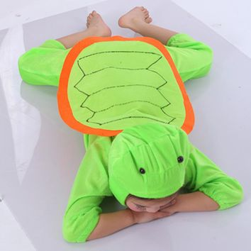 Children Kids Baby Girl Boy Cartoon Animal Coat Clothes Pajama Tortoise Turtle Costume Cosplay Suit Children's Day Costumes