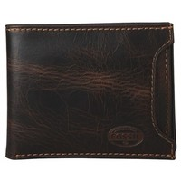 Fossil Norton Brown Leather Sliding 2 In 1 Bifold Wallet