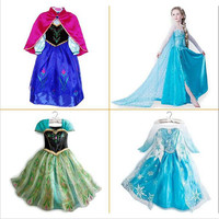 Frozen dress baby kids girl clothes children clothing girls cute princess party dress Anna Elsa winter dresseses causal dress