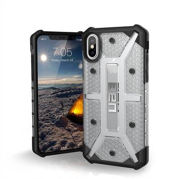 DCCKRQ5 UAG iPhone X Plasma Feather-Light Rugged [ICE] Military Drop Tested iPhone Case