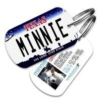 Texas License Plate Pet Tag
