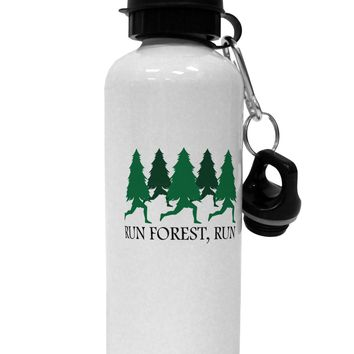 Run Forest Run Funny Aluminum 600ml Water Bottle by TooLoud