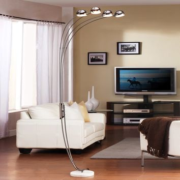 Modern Chrome Metal Arch Lamp by TRIBECCA HOME | Overstock.com Shopping - The Best Deals on Floor Lamps