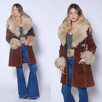 PENNY LANE Coat Almost Famous Jacket 70s Hippie Coat 1970s Leather & Fur Jacket Boho Jacket