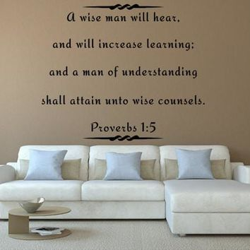 A Wise Man Will Hear Bible Scripture