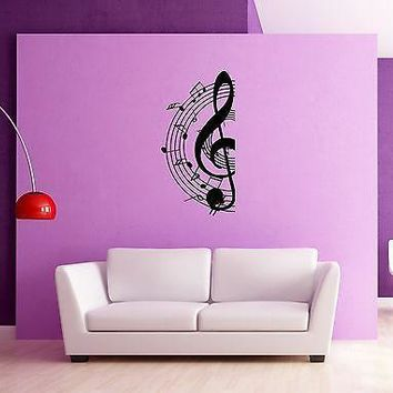 Wall Stickers Music Notes for Living Room Unique Gift z1251