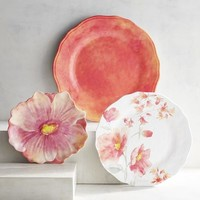 Cynthia Floral Tiger Lily Melamine Dinnerware