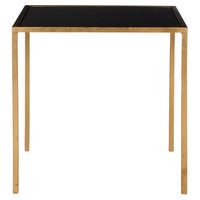 Hayden Accent Table, Gold/Black, Standard Side Tables