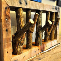 Tree branch coat rack,wall coat rack,rustic coat rack,branch coat rack,wooden coat rack,pallet wood coat rack,coat rack