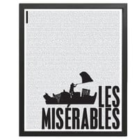Les Miserables by Victor Hugo - Art Print - Poster for Book Lovers - 8 x 10 Wall Decor