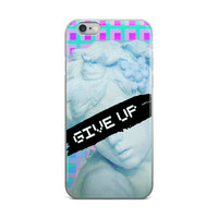 Give Up Vaporwave Sky Blue Bronze David Savannah Bird Girl Statue The Discus Thrower The Kiss Hermes and The Infant Dionysus Lady Justice Pieta The Thinker iPhone 4 4s 5 5s 5C 6 6s 6 Plus 6s Plus 7 & 7 Plus Case