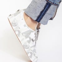 Free People Authentic Mono Camo Print