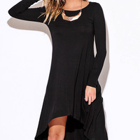 Back in Time Black High Low Dress
