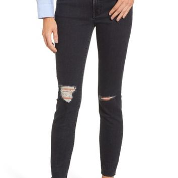 Madewell 9-Inch High Rise Ripped Skinny Jeans (Ruth) | Nordstrom