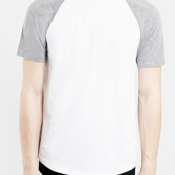 Men's Topman Short Sleeve Baseball T-Shirt