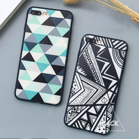 Fashion Geometry Triangle Case For iphone 7 Case For iphone7 PLus 6 6S Plus 5 5S Back Cover Abstract Graffiti Phone Cases Capa -JMJewelry