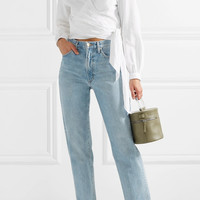 rag & bone - Prescot cotton and linen-blend wrap top