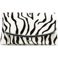 Garland Clutch, Zebra - Hayden-Harnett Handbags & Accessories Online Store