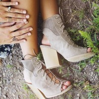 Altar'd State Lucky Lace Up Heels   Altar'd State