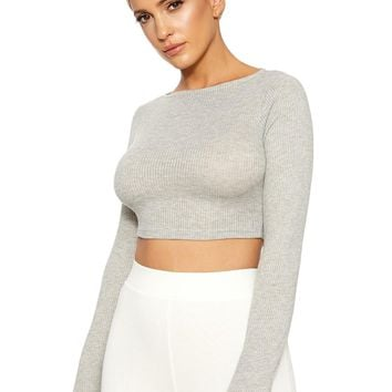 Bae-sic Boo Ribbed Crop - New Arrivals