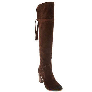 Franco Sarto Over the Knee Suede Boots with Tassel - Eckhart — QVC.com