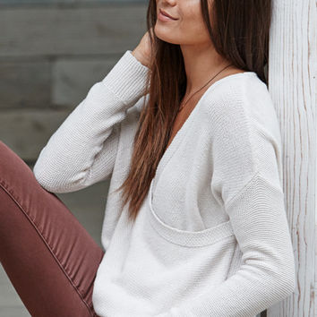 LA Hearts Surplice Pullover Sweater at PacSun.com