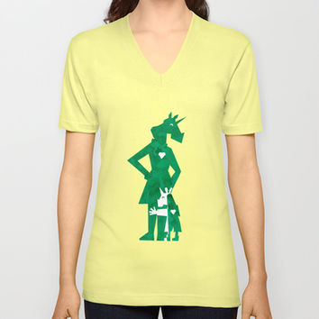 Happy Mother's Day Unicorn V-neck T-shirt by That's So Unicorny | Society6