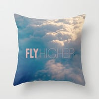 Fly Higher Throw Pillow by Melissa Lund