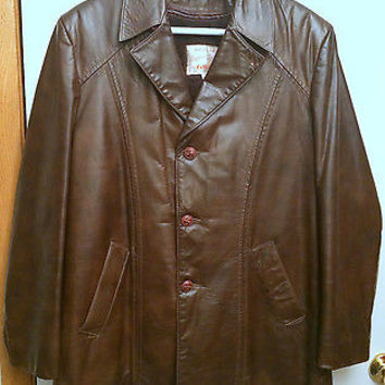 Vintage 1970s Mens Grais Angel Skin Nappa Leather Sherpa Lined Jacket Coat Sz 40