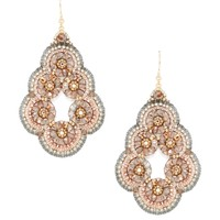 Swarovski & Miyuki Bead Earrings by Miguel Ases at Gilt