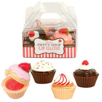Sweet Shop Cupcake Lip Glosses Set