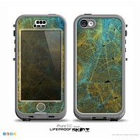 The Green, Blue and Brown Water Texture Skin for the iPhone 5c nüüd LifeProof Case