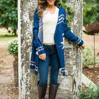 Lost Treasure Cardigan, Navy