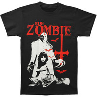 Rob Zombie Men's  Teenage Nosferatu Pussy T-shirt Black Rockabilia