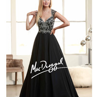 Mac Duggal 65083H Black Embellished Sweetheart Ball Gown 2015 Prom Dresses