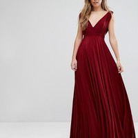 City Goddess Maxi Dress With Extreme Pleated Detail at asos.com