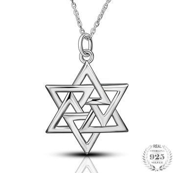 Star of David Pendant 925 Sterling Silver  Necklaces for Women Gift