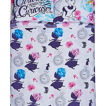 Disney Alice In Wonderland Floral Full Sheet Set