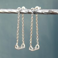 Swing Earrings - Sterling Silver